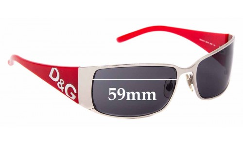 Sunglass Fix Replacement Lenses for Dolce & Gabanna DG6010 - 59mm Wide