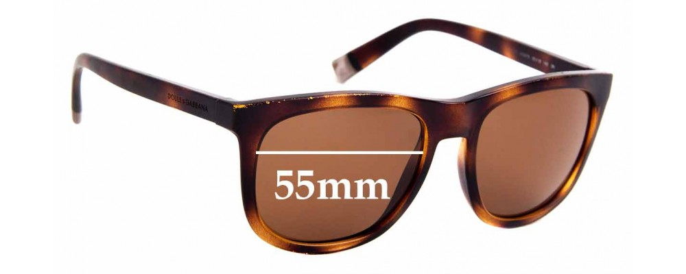 Sunglass Fix Replacement Lenses for Dolce & Gabbana DG6102 - 55mm Wide