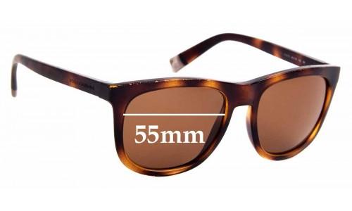 Sunglass Fix Replacement Lenses for Dolce & Gabbana DG6102 - 55mm Wide