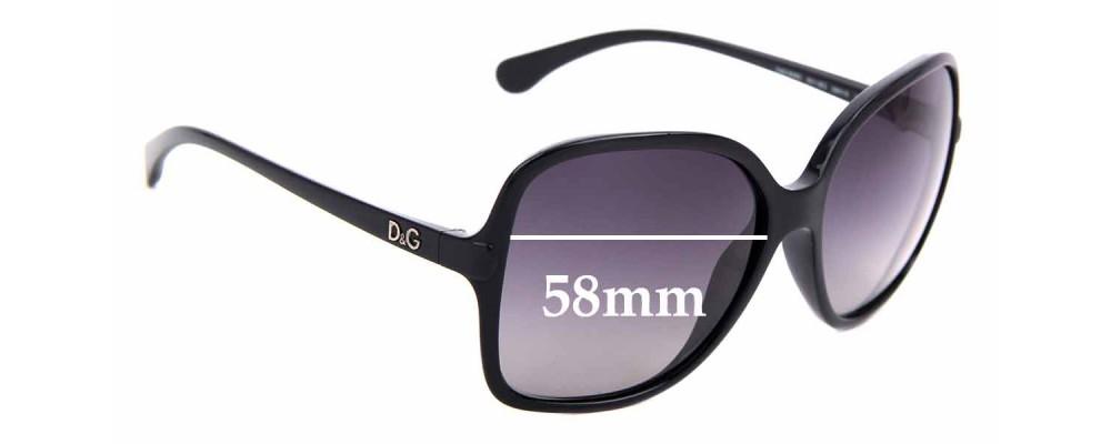 Sunglass Fix Replacement Lenses for Dolce & Gabbana DG8082 - 58mm wide