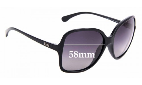 Sunglass Fix Replacement Lenses for Dolce & Gabbana DG8082 - 58mm wide