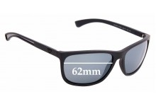 Sunglass Fix Replacement Lenses for Emporio Armani EA4078 - 62mm Wide