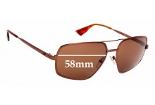 Sunglass Fix Replacement Lenses for Emporio Armani EA9639/S  - 58mm Wide