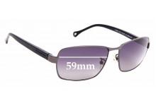 Sunglass Fix Replacement Lenses for Ermenegildo Zegna SZ 3287 - 59mm Wide