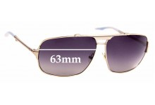 Sunglass Fix Replacement Lenses for Fifty Five by Diesel Stered - 63mm Wide