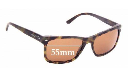 Sunglass Fix Replacement Lenses for Giorgio Armani AR 8049 - 55mm wide