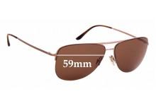 Sunglass Fix Replacement Lenses for Giorgio Armani AR 6007 - 59mm wide