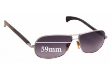 Sunglass Fix Replacement Lenses for Gold & Wood Spica - 59mm Wide
