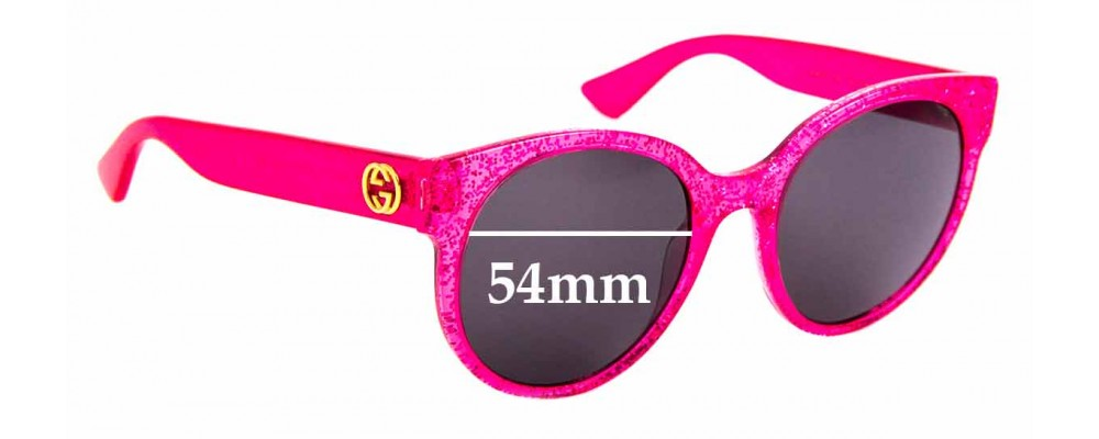 Sunglass Fix Replacement Lenses for Gucci GG 0035/S - 54mm Wide