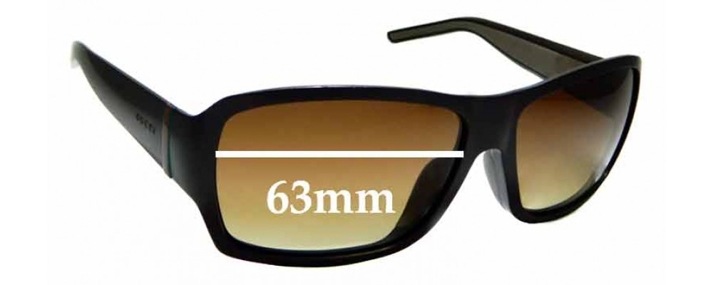 Sunglass Fix Replacement Lenses for Gucci GG1033/F/S - 63mm Wide