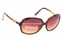 Sunglass Fix Replacement Lenses for Gucci GG 3145/F/S - 59mm wide