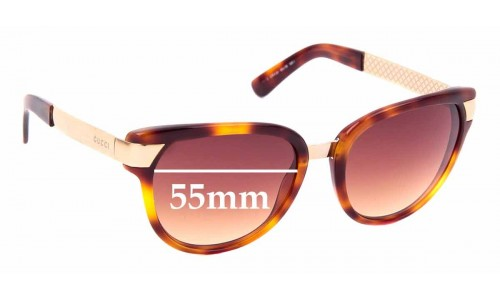 Sunglass Fix Replacement Lenses for Gucci 3651/S - 55mm wide