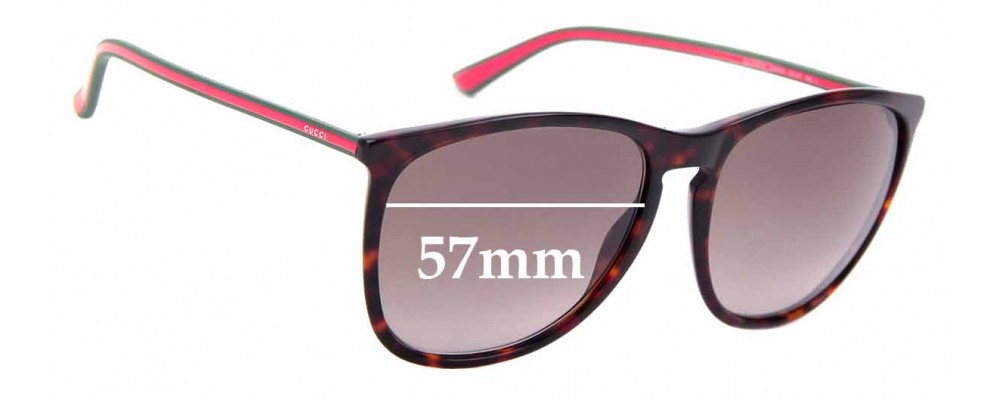 Sunglass Fix Replacement Lenses for Gucci GG 3767/S - 57mm Wide