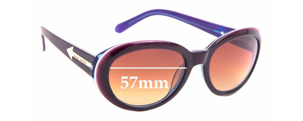 Sunglass Fix Replacement Lenses for Karen Walker Super Speed - 57mm Wide