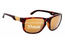 Sunglass Fix Replacement Lenses for Koo California - 55mm Wide