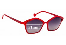 Sunglass Fix Replacement Lenses for L.A.Eyeworks Fado - 51mm Wide