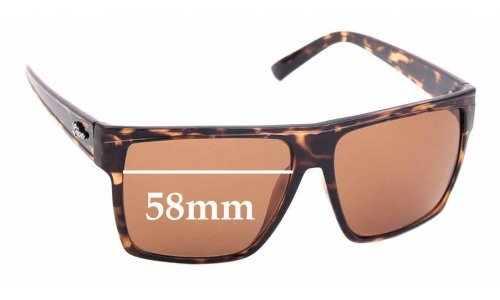 Sunglass Fix Replacement Lenses for LIIVE Juzzo - 58mm wide