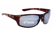 Sunglass Fix Replacement Lenses for Maui Jim MJ440 Big Wave - 67mm Wide