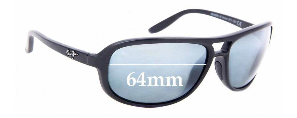 Sunglass Fix Replacement Lenses for Maui Jim MJ288 Breakers - 64mm Wide
