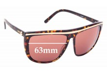 Sunglass Fix Replacement Lenses for Mimco Sportluxe SF015500 - 63mm Wide