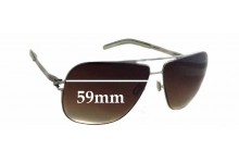 Mykita ROLF Replacement Sunglass Lenses - 59mm wide - 46mm tall . These need to be made in Lab, Ultimate Polarised Not Available