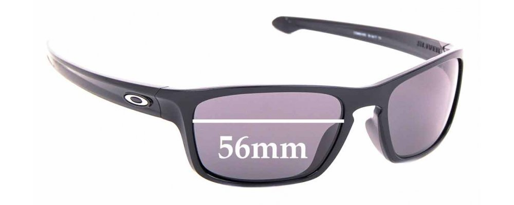 Sunglass Fix Replacement Lenses for Oakley Sliver OO9408 - 56mm wide