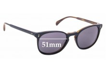 Sunglass Fix Replacement Lenses for Oliver Peoples Finley Esq OV5298SU - 51mm Wide