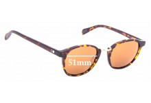 Sunglass Fix Replacement Lenses for Otis A Day Late - 51mm wide