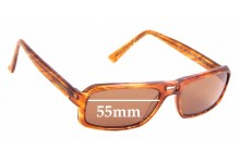 Sunglass Fix Replacement Lenses for Pierre Cardin by Safilo PC6086/S - 55mm wide