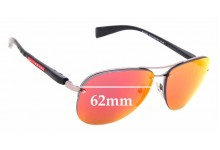 Sunglass Fix Replacement Lenses for Prada PS56MS - 62mm wide
