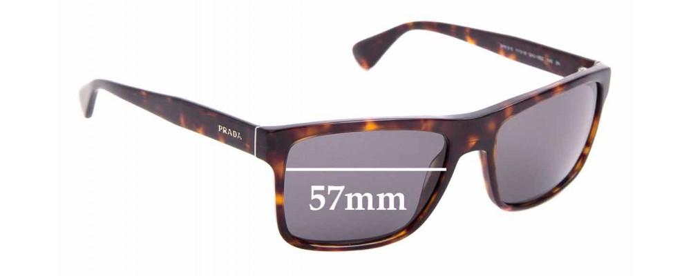 Sunglass Fix Replacement Lenses for Prada SPR 01S - 57mm Wide