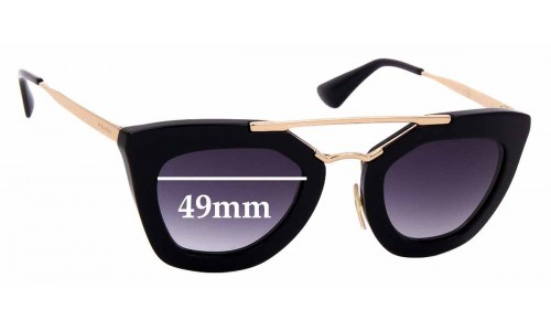 Sunglass Fix Replacement Lenses for Prada SPR 09Q - 49mm wide