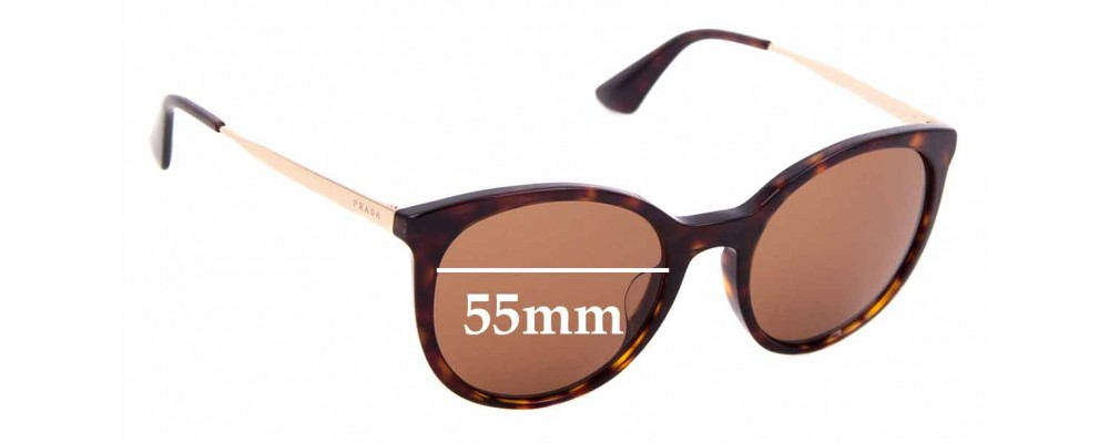 Sunglass Fix Replacement Lenses for Prada SPR17S-F -55mm wide