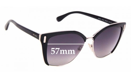 Sunglass Fix Replacement Lenses for Prada SPR56T - 57mm Wide