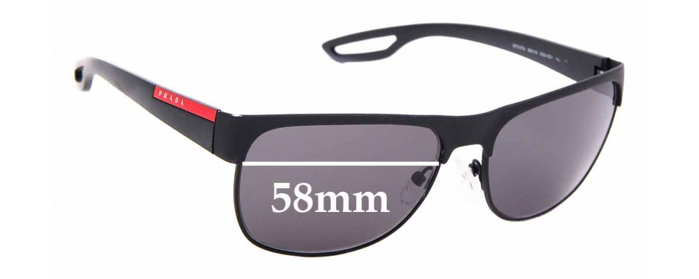 Sunglass Fix Replacement Lenses for Prada SPS 57Q - 58mm Wide