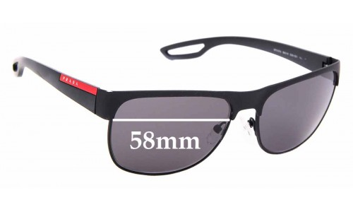 Sunglass Fix Replacement Lenses for Prada SPS 57Q - 58mm Wide