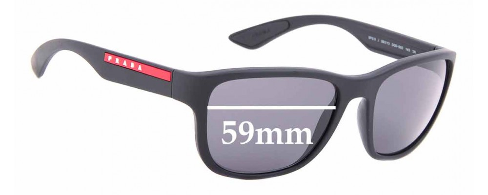 Sunglass Fix Replacement Lenses for Prada SPS 01U - 59mm wide