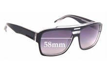 Sunglass Fix Replacement Lenses for Quiksilver Parker - 58mm Wide