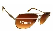 Sunglass Fix Replacement Lenses for Quiksilver QS Sun RX 104 - 57mm Wide