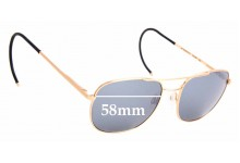 Sunglass Fix Replacement Lenses for Randolph Engineering Aviator RE FGN - 58mm Wide