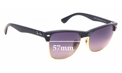 Sunglass Fix Replacement Lenses for Ray Ban Clubmaster RB4175 - 57mm Wide