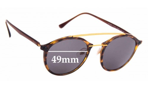 Sunglass Fix Replacement Lenses for Ray Ban RB4266 LightRay - 49mm Wide