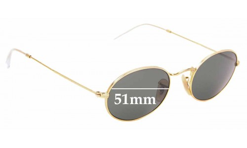 Sunglass Fix Replacement Lenses for Ray Ban RB3547- 51mm Wide