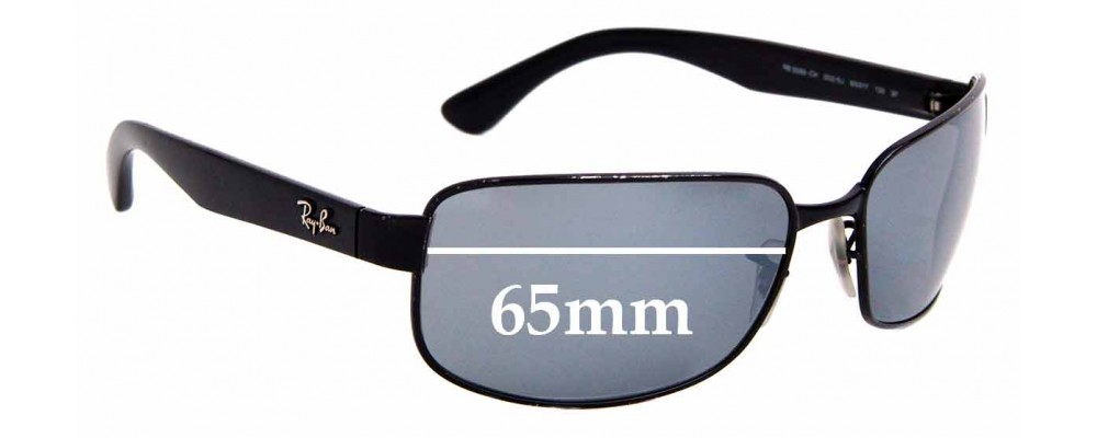 Sunglass Fix Replacement Lenses for Ray Ban RB3566  - 65mm Wide