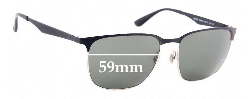 Sunglass Fix Replacement Lenses for Ray Ban RB3569 - 59mm Wide
