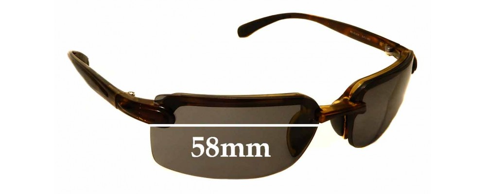 Sunglass Fix Replacement Lenses for Ray Ban RB4044 - 58mm Wide