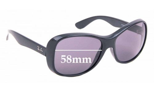 Sunglass Fix Replacement Lenses for Ray Ban RB4139 - 58mm Wide