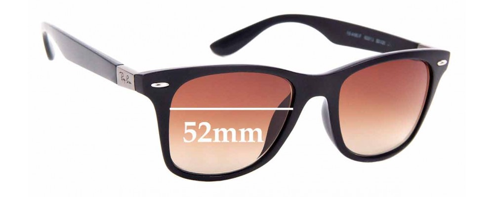 Sunglass Fix Replacement Lenses for Ray Ban RB4195-F - 52mm Wide