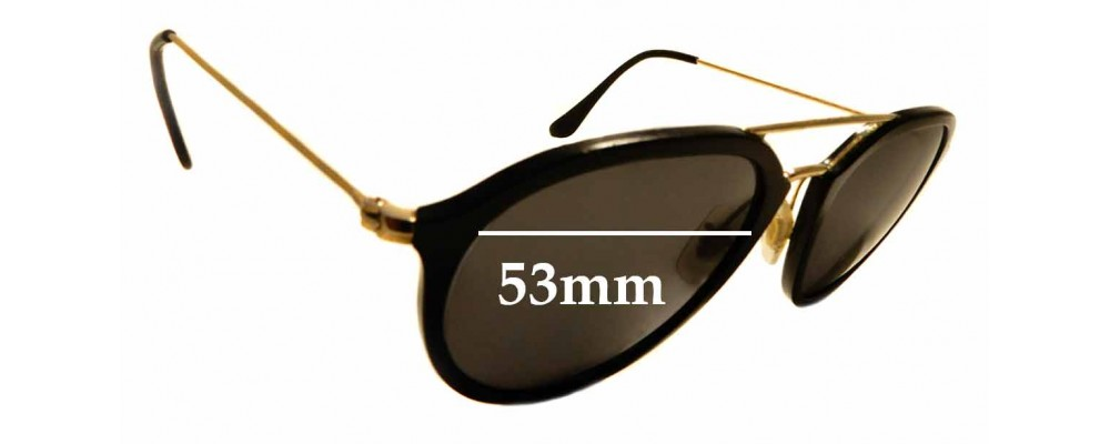 Sunglass Fix Replacement Lenses for Ray Ban RB4253 - 53mm Wide