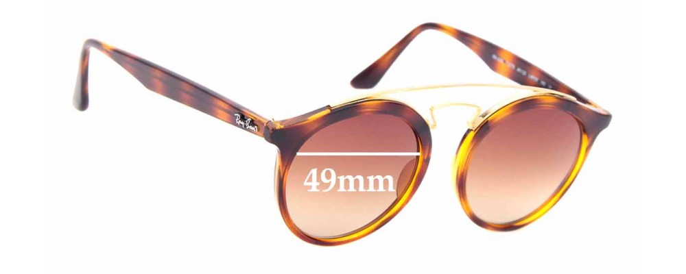 Sunglass Fix Replacement Lenses for Ray Ban RB 4256 Large - 49mm wide